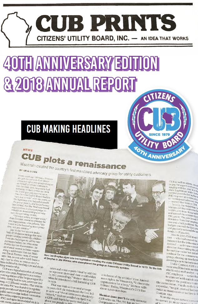 CUB 2018 Annual Report
